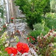 Terrace of holiday let in South France