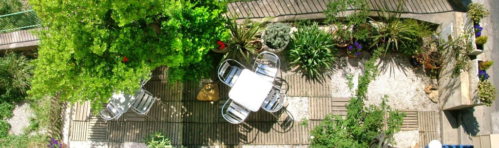 Terrace of self-catering gite