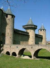 Castle at Carcassonne Old City