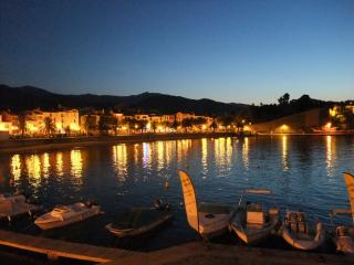 Collioure Bay at night