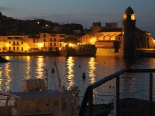 Collioure Lighthouse at night