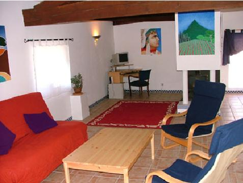 Large lounge in holiday gite